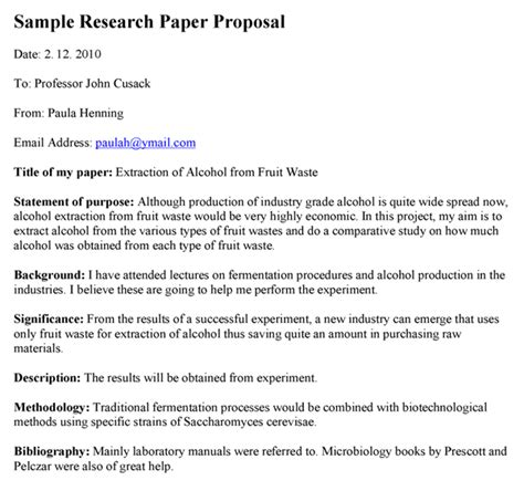 research paper proposal exle