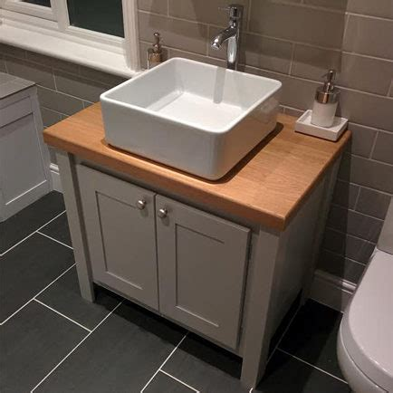 manor house grey vanity unit with solid oak top aspenn