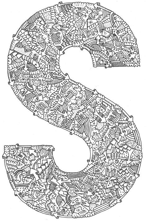 mandala coloring pages letters 203 best images about zentangle letters on the