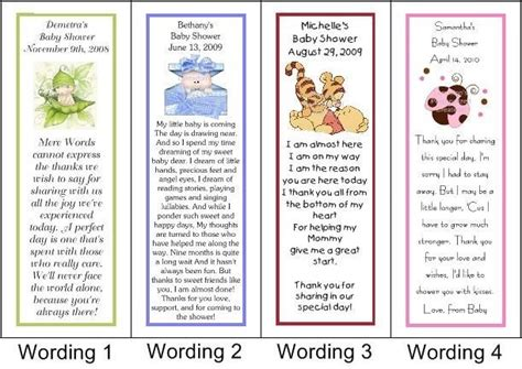 Baby Shower Thank You Poems From And by 6 Best Images Of Printable Baby Shower Bookmarks Baby