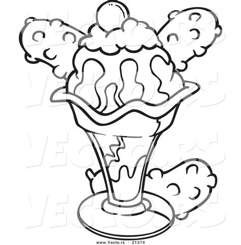 bad ice cream coloring pages sundae coloring page paginone biz