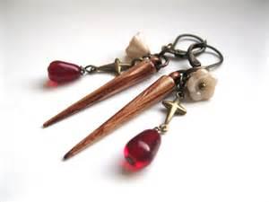 buffy earrings slayer stake earrings with garlic and crosses buffy