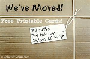 We Moved Cards Templates by We Ve Moved Free Printable Cards Coloradomoms