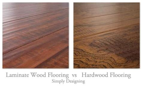 hardwood floor vs laminate floating laminate wood vs hardwood flooring