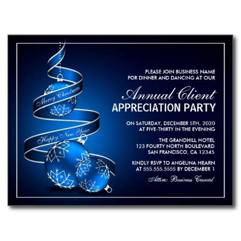 Customer Or Client Appreciation Party Invitations Zazzle Com Christmas And Holiday Party Customer Appreciation Invitations Templates