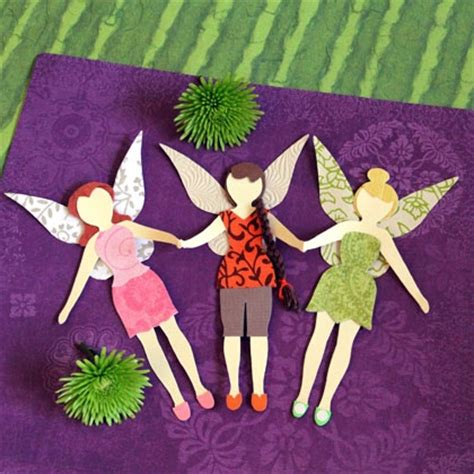How To Make Paper Fairies - disney paper pals disney family