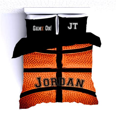 basketball vintage personalized bedding set sport duvet