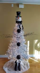 snowman christmas tree christmas pinterest