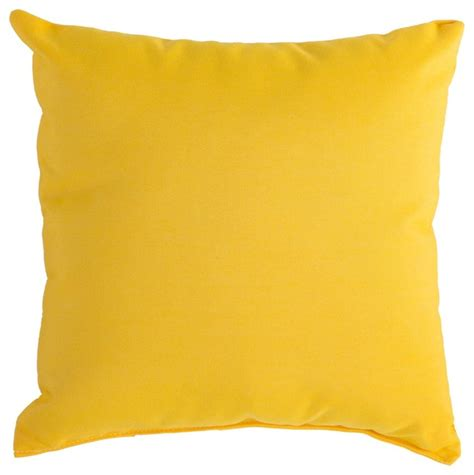 Patio Cushions Yellow Sunbrella Outdoor Pillow Sunflower Yellow Contemporary
