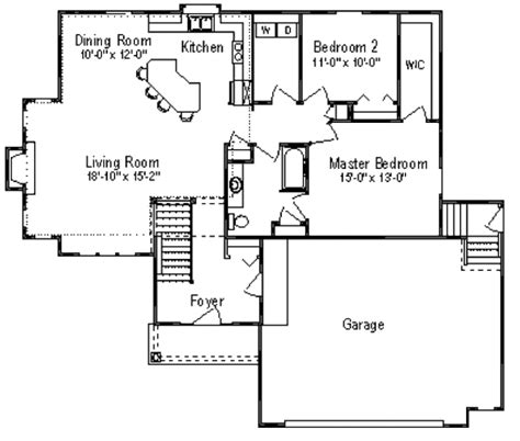 traditional style house plan 3 beds 1 baths 1300 sq ft