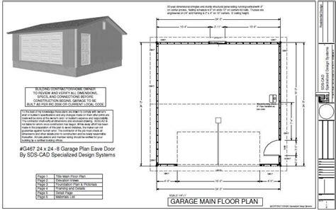 Garage Door In Plan by Garage Plan Sds Plans