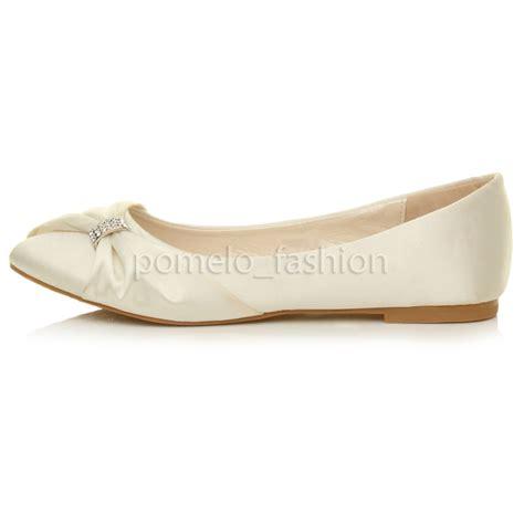 flat bridesmaid shoes uk womens flat evening bridesmaid bridal wedding dolly