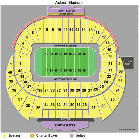 autzen stadium seating oregon ducks tickets 2015 schedule ticketcity