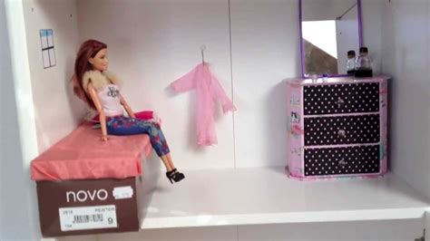 barbie doll house homemade my homemade barbie doll house youtube