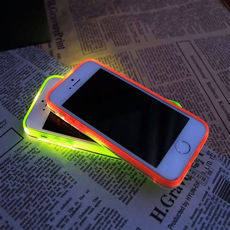 Blink Iphone 5 Blue incoming call led blink transparent back cover for