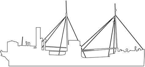 silueta barco a vapor contorno y silueta vector - Silueta De Barcos Para Colorear