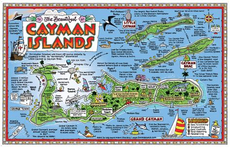 map of cayman islands pictorial map collection