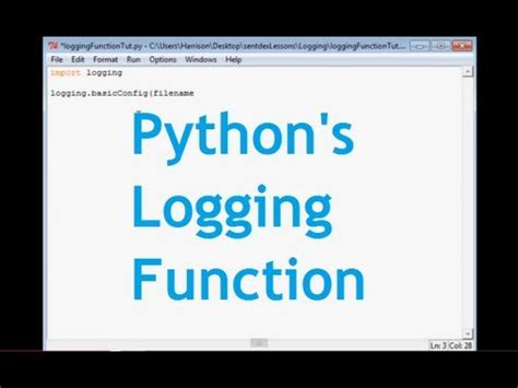 tutorial python logging become a logging expert in 30 minutes doovi