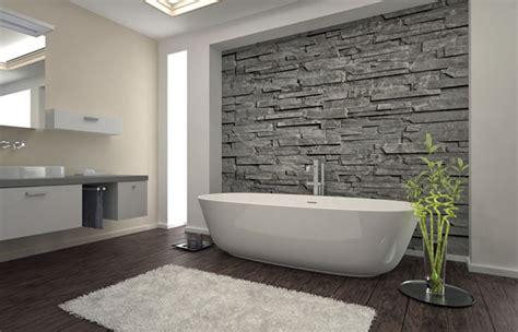 decorazioni pareti bagno idee bagno moderno con inserti in legno e pietra