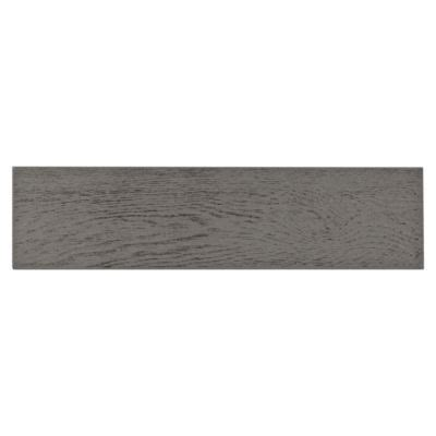 this wood look finish adirondack gray white body wood plank ceramic tile is 4in x 18in ceramic
