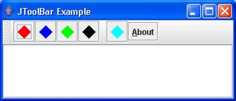 java swing toolbar jtoolbar demo toolbar 171 swing jfc 171 java