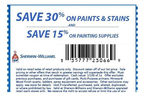 sherwin williams coupon lowes