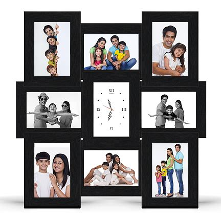 wall collage frames 2016 multi frame wood baby picture perfect collage frames with clock designed to showcase