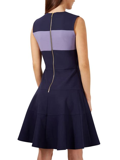 Closet Dress by Closet Contrast Band A Line Dress In Blue Lyst
