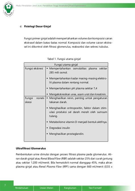 Dasar Dasar Fisiologi Ginjal anatomi dan fisiologi ginjal dan saluran perkemihan