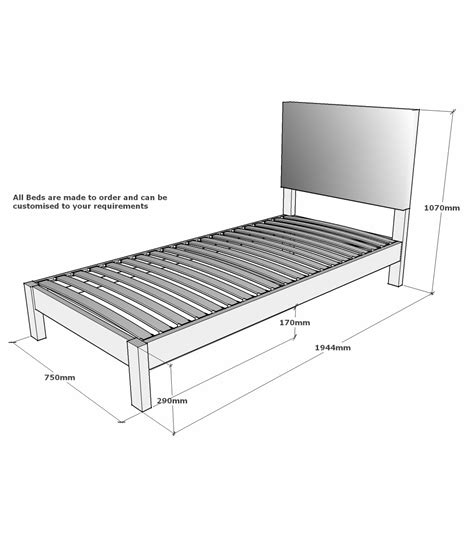 Headboard Dimensions by Lancaster Small Single Solid Oak Bed With Integrated