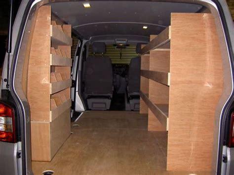 vw transporter ttt van plywood rackingshelving