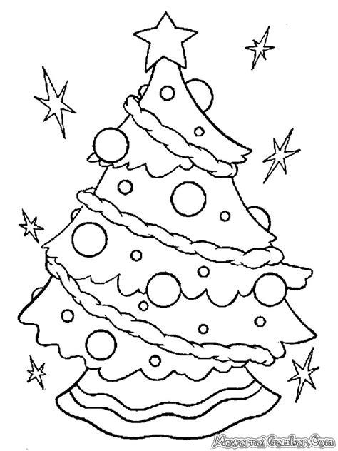Cara Mewarnai Pohon Natal - B Warna