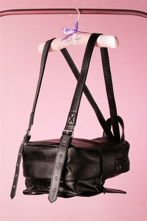 Tas Backpack Cat Black 50s a cat with tricks backpack in black