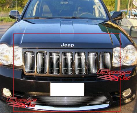 Jeep Grand Grill Inserts Fits 09 2010 Jeep Grand Srt8 Billet Grille Grill