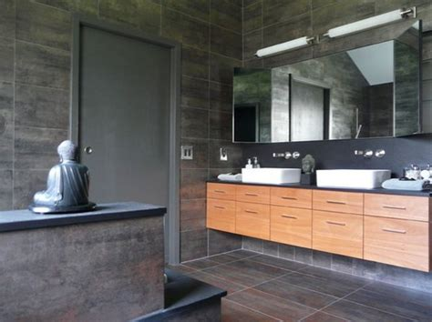 asian inspired bathroom how to take advantage of floating vanities to make