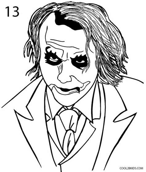 Drawing Joker by How To Draw The Joker Step By Step Pictures Cool2bkids