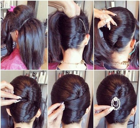 step to step guide on french roll elegant chignon for special occasions alldaychic