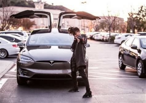 will smith's son, jaden smith, now a tesla model x owner