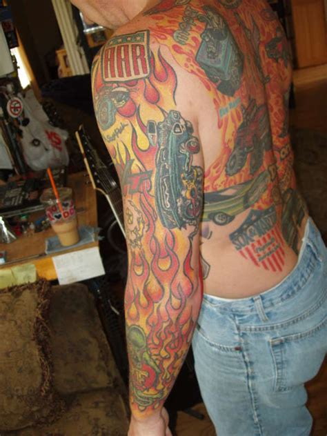 rat fink tattoos rat fink sleeve