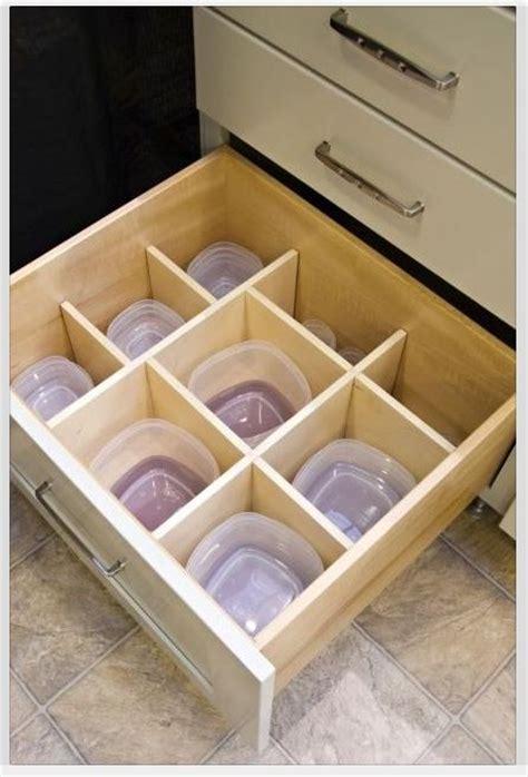 kitchen cabinet drawer with tupperware organizer new