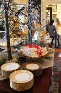 Open Buffet Table Tallgrass Design Mary Carol Garrity Holiday Home Tour