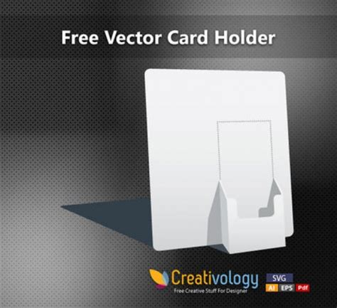 Free Paper Downloads For Card - white paper card holder vector free