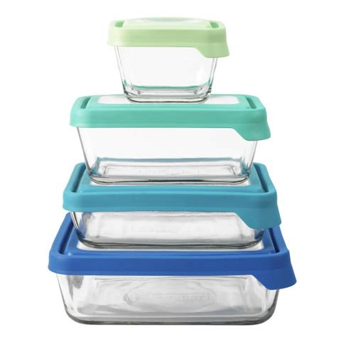 Kitchen Canisters Set anchor hocking 8pc rectangular trueseal food storage set