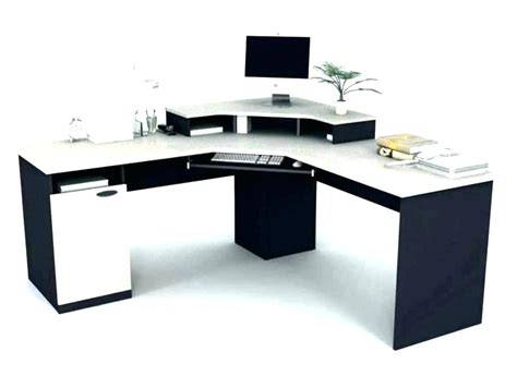 black and white desk l l shaped white desk with hutch hostgarcia