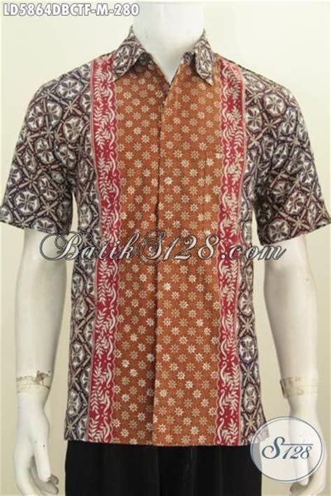 Hbt081 Hem Batik Cowok Bahan Doby Seragam Pria Modern Murah Kemeja batik hem seragam kerja lengan pendek furing til lebih mewah pakaian batik motif