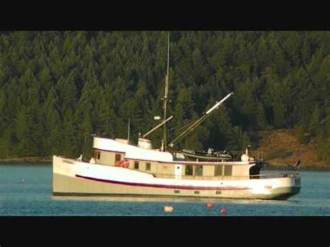 boat hull for sale bc fishing trawler converted to a cruiser anchored in