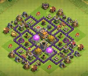 Best town hall 7 trophy base coc th7 trophy base th7 trophy layout