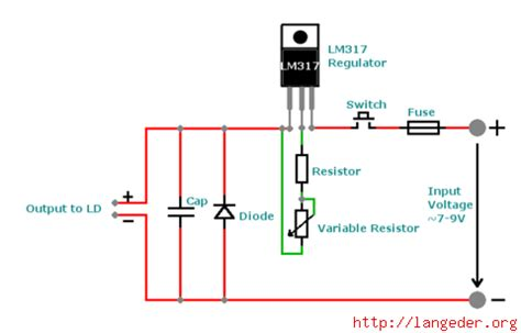 laser diode voltage laser driver with lm317 langeder org