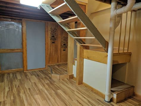 loft ladder attic install new folding attic stairs with handrail founder stair