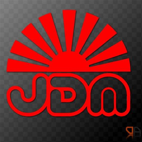 jdm sun jdm rising sun arc vinyl decal sticker jdm drifting